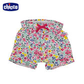 chicco-To Be Baby-抽摺反折短褲-粉花朵