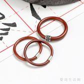 情侶對戒 雞血藤戒指手工鑲嵌銀扣復古木指環男女情侶款 AW14029『愛尚生活館』