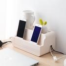 插座電線收納盒電源線整理盒子 桌面插排理線器固定理線盒-享家生活館