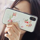 韓國 玫瑰花 防摔掀蓋卡夾 手機殼│iPhone 6S 7 8 Plus X XS MAX XR LG G6 G7 G8 V20 V30 V40 V50│z8978
