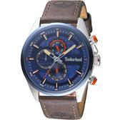 Timberland 天柏嵐 雙時區休閒皮帶錶(TBL.15953JSTBL/03)46mm