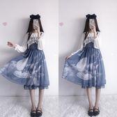 洋裝 和平之春天國少女永恒之詩洛麗塔洋裝lolita全套裝連衣裙子兩件套 快速出貨
