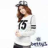 betty's貝蒂思 絨毛數字圖案造型毛衣(白色)