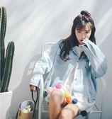 2018春裝韓版新款牛仔外套女BF休閒不規則毛邊牛仔衣短款長袖外套 東京衣櫃