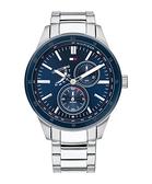 【台南 時代鐘錶 Tommy Hilfiger】1791640 多功能 日期 星期顯示 三眼鋼錶帶男錶 44mm 銀/藍
