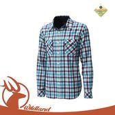 【Wildland 荒野 男 彈性格子布保暖襯衫《海藍》】0A12202/長袖襯衫/格子襯衫