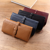 【Solomon 原創設計皮件】抽帶設計真皮長夾 牛皮女用錢包有拉鍊袋設計