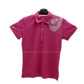 (B4) MIZUNO 美津濃 女 POLO衫 短袖上衣 高爾夫球衣 抗臭 抗紫外線 32TA021068 紫紅 [陽光樂活]