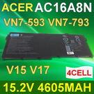 ACER 4芯 AC16A8N 日系 電芯 電池 AC16A8N 4ICP7/61/80 Aspire V15 V17 VN7-593G VN7-793G
