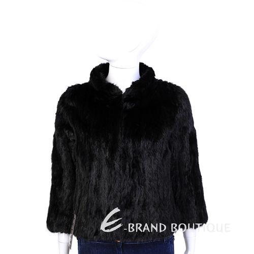 GRANDI furs 黑色立領設計皮草外套 1440006-01