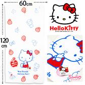 日本SANRIO HelloKitty紗蘿浴巾 Kitty格紋紅衣 凱蒂貓 澡巾 大毛巾 海灘巾 三麗鷗