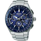 SEIKO精工 ASTRON 雙時區鈦GPS衛星定位手錶 8X53-0AV0B(SBXB155J)