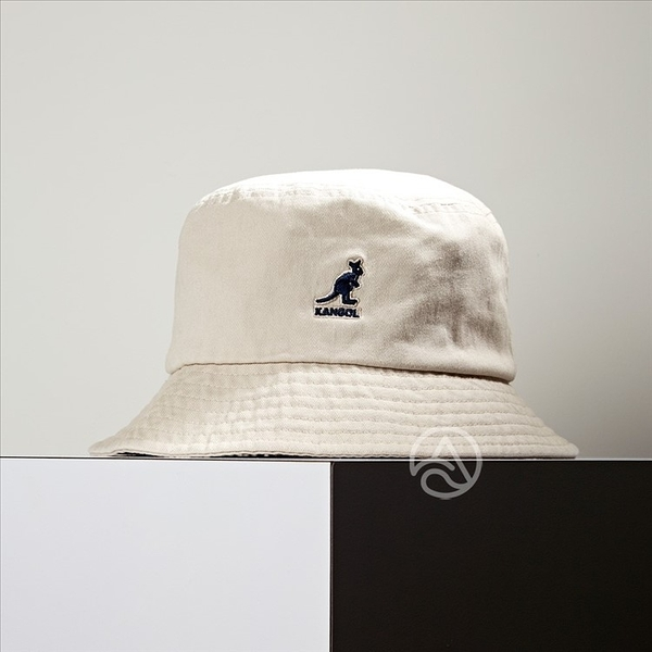 KANGOL Washed Bucket 杏色 漁夫帽 100169215-93