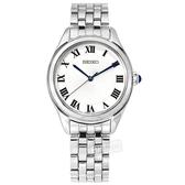 SEIKO 精工 / 6N01-00G0S.SUR327P1 / 經典簡約 放射狀錶盤 羅馬刻度 不鏽鋼手錶 白色 29mm