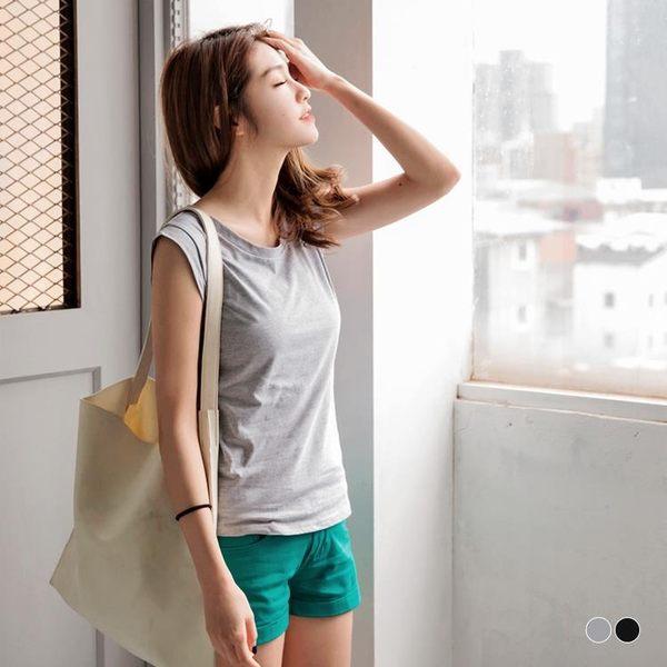OrangeBear《AB2701》高棉量純色合身寬肩背心.2色--適 XL~3L