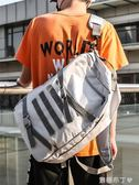 潮牌原創休閒雙肩包男大容量帆布高中學生書包女韓版男士旅行背包 焦糖布丁