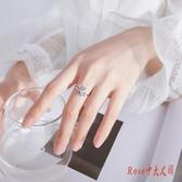 銀飾 全新s925銀戒指女韓版小清新簡約光珠月光石小惡魔開口手飾品 OO9286【Rose中大尺碼】