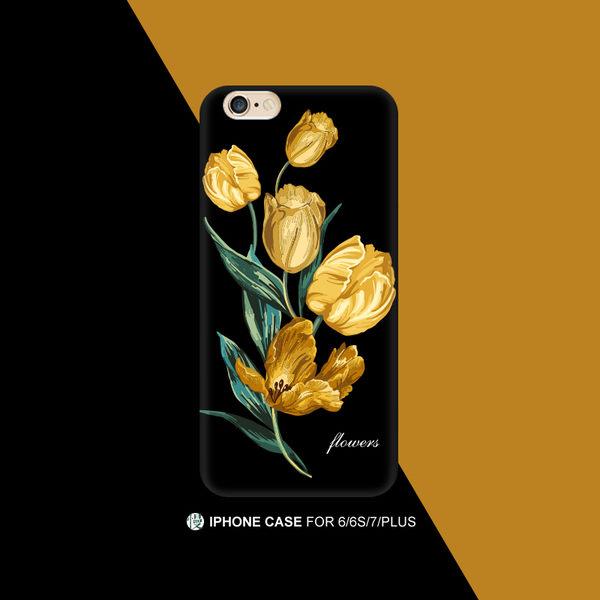 iPhone手機殼 經典限量款。可掛繩 優雅氣質金花 德國軟殼 蘋果iPhone7/iPhone6 手機殼