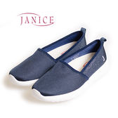 JANICE-基本款素面平底懶人鞋652050-07(藍)