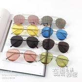 潮人水銀眼鏡彩色墨鏡反光炫彩蛤蟆鏡男女士機車太陽鏡酷潮 衣櫥秘密