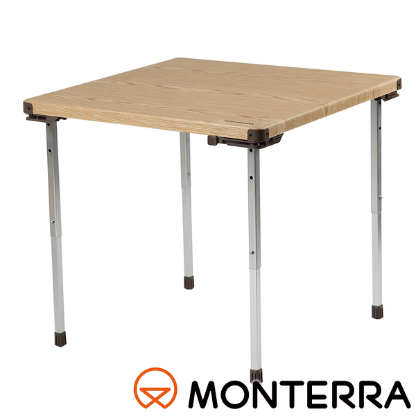 【MONTERRA 韓國】嘉年華休閒竹紋桌 FSA71-G11 戶外.野餐桌.折合桌.摺疊桌.矮桌.木桌.桌椅.鋁