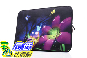 [106美國直購] 防護袋 YIDA 15-15.6吋 B01LPUNRHG Laptop Sleeve Case Handle Bag Neoprene Cover, Butterfly In Flowers