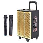 大聲公鼎雅型無線麥克風多功能行動音箱/喇叭 (雙手持麥克風組)