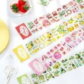 【BlueCat】果味奇緣系列 水果蛋糕 長條膠帶 (附分裝板) 手帳膠帶