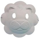 獅子面具 空白面具 動物面具/一袋50個入(定40) 附鬆緊帶 DIY面具 彩繪面具 空白眼罩-AA5348