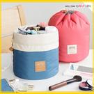 多功能旅行收納圓筒大容量防水抽繩化妝包