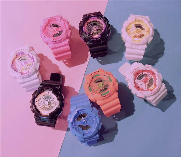 潮流ulzzang 手錶男女中學生正韓簡約休閒大氣電子錶時尚運動防水【快速出貨】