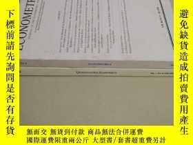 二手書博民逛書店【2本合售】ECONOMETRICA罕見VOL.84 + QUANTITATIVE ECONOMICS VOL.7