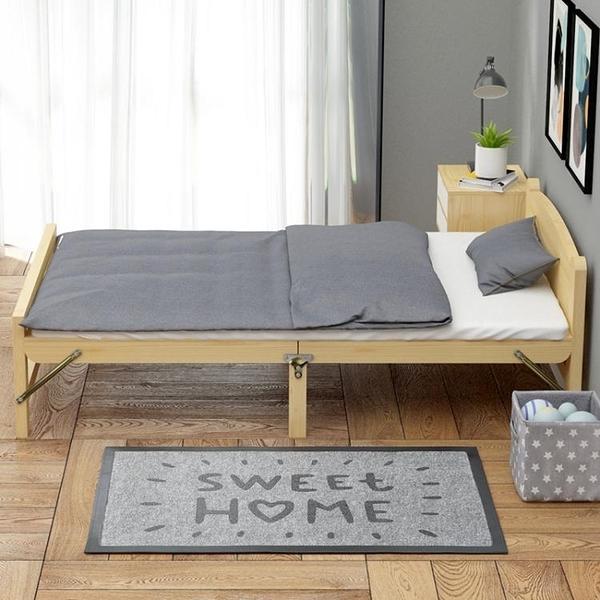折疊床 折疊床單人家用成人簡易1.2米出租房午休兒童辦公室實木板雙人床 青山市集