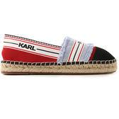 Karl Lagerfeld女鞋 KAMINI條紋LOGO草編鞋-藍
