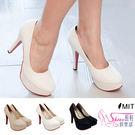 跟鞋.台灣製MIT 夢幻蕾絲高跟包鞋.白...
