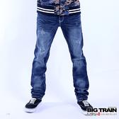 Big Train 經典小直筒褲-男-迷-中藍-ZM701077