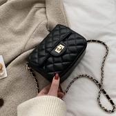 仙女溫柔風小包包女2020流行新款潮韓版百搭斜背包時尚菱格鏈條包