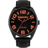 【台南 時代鐘錶 Superdry】極度乾燥 美式和風 文化衝擊潮流腕錶 SYG192BRA 皮帶 44mm