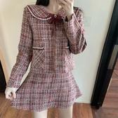 套裝  小香風套裝 韓版娃娃領外套名媛時尚洋氣短裙兩件套