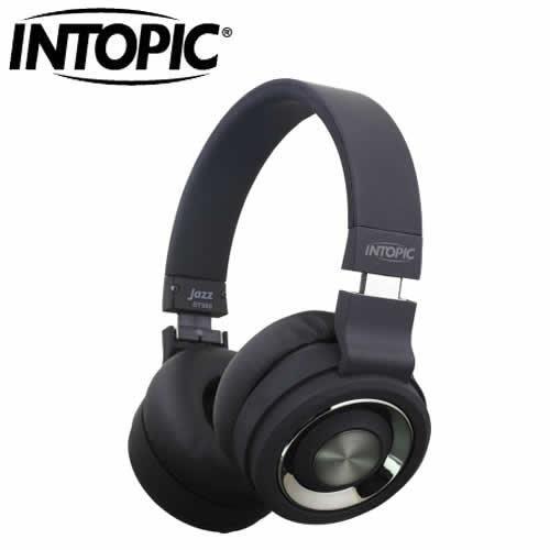 INTOPIC 摺疊藍芽耳機麥克風JAZZ-BT980-BK 黑色【本月促銷▼現省300】