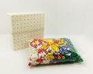 【台灣製USL遊思樂】洞洞板(5pcs)+小彩釘(5色,1005pcs) / 袋