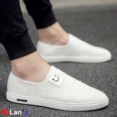 [伊人閣] 一腳蹬 懶人板鞋 豆豆潮鞋 男鞋 布鞋