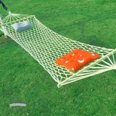 雙十一返場促銷戶外吊床網狀單人室內成人兒童野營蕩秋千睡網掉床加固粗棉繩超輕