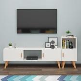 北歐電視櫃現代簡約小戶型客廳臥室簡易組合電視機櫃電視桌落地櫃 ATF安妮塔小舖