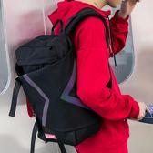 街頭潮流男女雙肩包鐳射嘻哈旅行背包大容量中大學生書包電腦背包花間公主