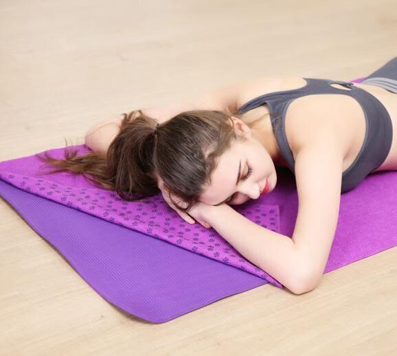 瑜伽墊布鋪巾蓋防滑初學者印花健身毯子吸汗毛巾瑜珈用品裝YYP 蜜拉貝爾
