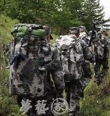 戰術包 07迷彩背囊配髮01B寒區攜行具大容量後背戰術背包特種兵軍包 夢藝家