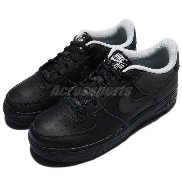 Nike 休閒鞋 Air Force 1 LV8 GS 全黑 反光 大童鞋 女鞋 【PUMP306】 820438-009