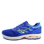 Mizuno Wave Shadow [J1GD173007] 女鞋 運動 慢跑 休閒 避震 透氣 穩定 美津濃 藍銀