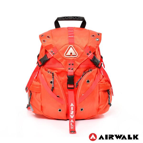 AIRWALK - 繽紛原色三叉扣系列後背包 - 小 - 橘 - A431322852